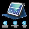 """Kép 1/9 - TRUST Összehajtható védőtok és állvány 10""""-os táblagépekhez 20315, Primo Folio Case with Stand for 10"""" tablets - blue"""
