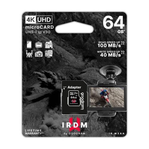 GOODRAM Memóriakártya SDXC 64GB UHS-I U3 V30 + adapter