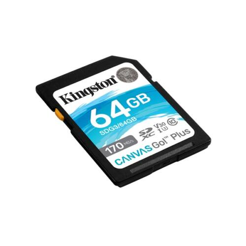 KINGSTON Memóriakártya SDXC 64GB Canvas Go Plus 170R C10 UHS-I U3 V30