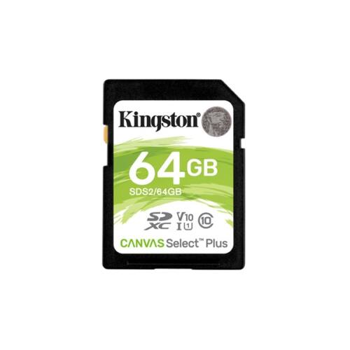 KINGSTON Memóriakártya SDXC 64GB Canvas Select Plus 100R C10 UHS-I U1 V10