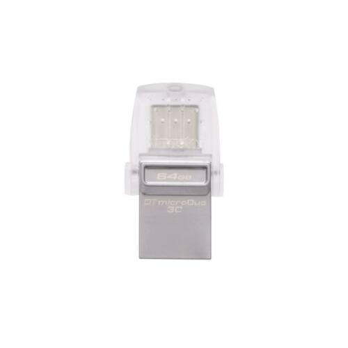 KINGSTON Pendrive 64GB, DT MicroDuo 3C USB 3.0 + Type-C (100/15)