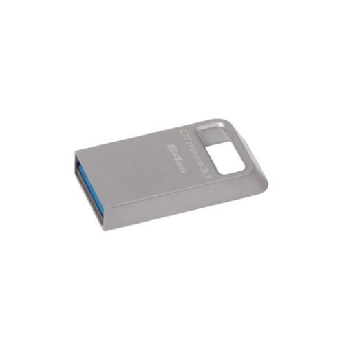 KINGSTON Pendrive 64GB, DT Micro USB 3.0, fém (100/15)