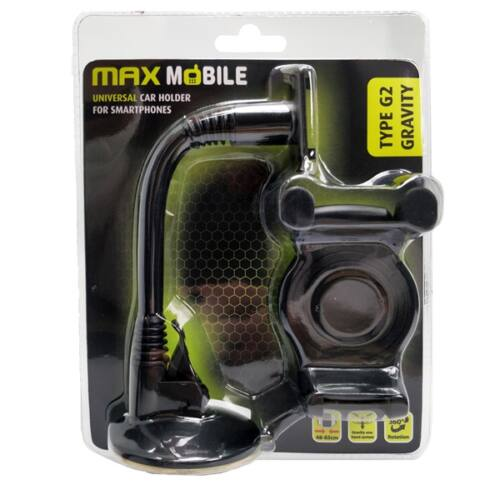 """MAX MOBILE Autós Tartó Type G2 Gravity Flex, szélvédőre, 6""""-ig, tapadókorongos"""