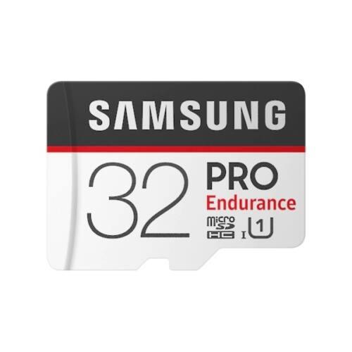 SAMSUNG Memóriakártya PRO Endurance memóriakártya 32GB, CLASS 10, UHS-I SDR104, + Adapter, R100/W30