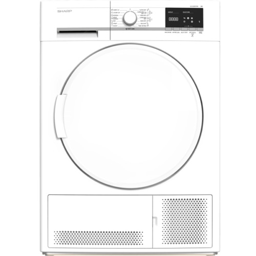SHARP KD-GCB8S7PW9 kondenzációs szárítógép, 8 kg, 15 program