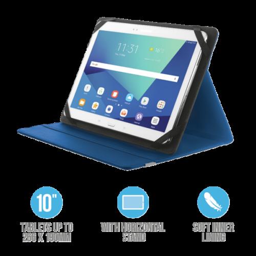 """TRUST Összehajtható védőtok és állvány 10""""-os táblagépekhez 20315, Primo Folio Case with Stand for 10"""" tablets - blue"""